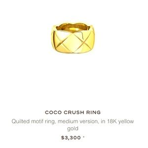 Coco Crush 18k Gold Chanel Ring—Size 5.5